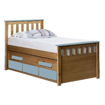 Verona Kids Bergamo Captains Bed - Antique and Baby Blue
