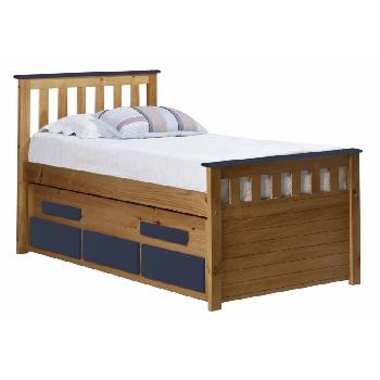 Verona Kids Bergamo Captains Bed - Antique and Blue