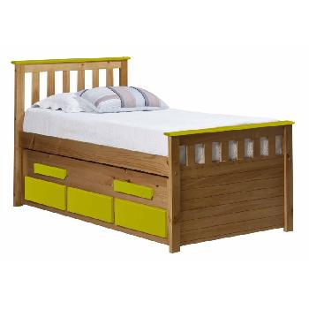 Verona Kids Bergamo Captains Bed - Antique and Lime