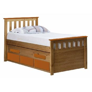 Verona Kids Bergamo Captains Bed - Antique and Orange