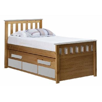 Verona Kids Bergamo Captains Bed - Antique and White