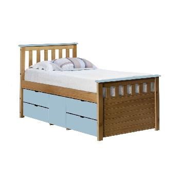 Verona Kids Ferrara Captains Bed Antique and Baby Blue