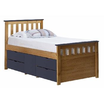 Verona Kids Ferrara Captains Bed Antique and Blue