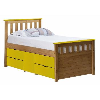 Verona Kids Ferrara Captains Bed Antique and Lime