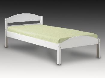 Verona Veresi Long Euro (IKEA) Size Single White Wooden Bed Frame