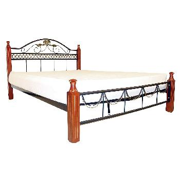 Veronica Metal Bed Frame Single Gold