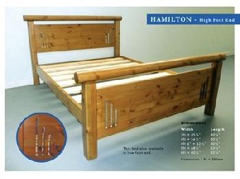 Windsor Hamilton 5' King Size Paint Cream High Foot End Wooden Bed