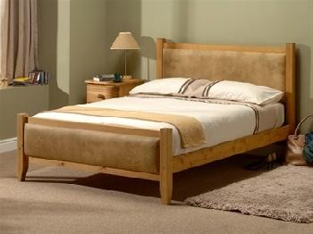 Windsor Savoy (Antique Wax and Beige) 5' King Size Wooden Bed