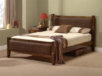 Windsor Savoy (Chocolate Brown and Dark Brown) 5' King Size Wooden Bed