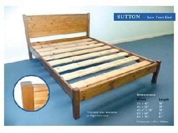 Windsor Sutton Pine 4' Small Double Antique Wax Low Foot End Wooden Bed